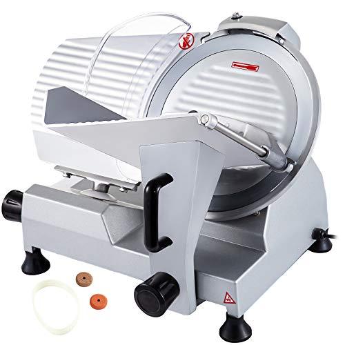 VEVOR JK-300A Allesschneider Elektrisch 12 Zoll 300mm Food Slicer 250W Aufschnittmaschine Meat Slicer Machine Cutting Machine Universalschneider für Fleisch Käse Roastbeef Gemüse