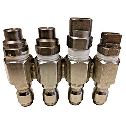 JRod 4 Position Nozzle Holder - Pressure Washer for 5 to 6 GPM Nozzles 4 Way J-Rod Tip Holder