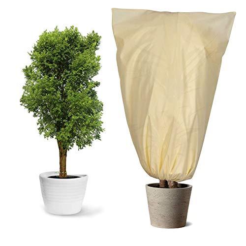 Yidaxing Funda para Plantas, Cubierta para Plantas Protección contra Congelación para Invierno Tela no Tejida 80 g/m²Protege de Bajas temperaturas los Cultivos de Plantas, Beige (100x80cm)