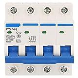 Hyuduo Disyuntor En Miniatura, Disyuntor de Protección contra Fugas, con Interruptor Automático 4P 40A 400V 50Hz para detección de Sobrecorriente