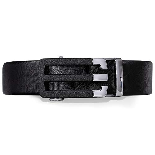 Dubulle Mens zwarte riem ontwerper gesp ratel riem echt leer automatische gesp Fashion riem voor mannen