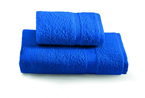 Gabel Tintunita & Co Set Asciugamani, 100% Cotone, Blu Elettrico, 100 x 60 cm