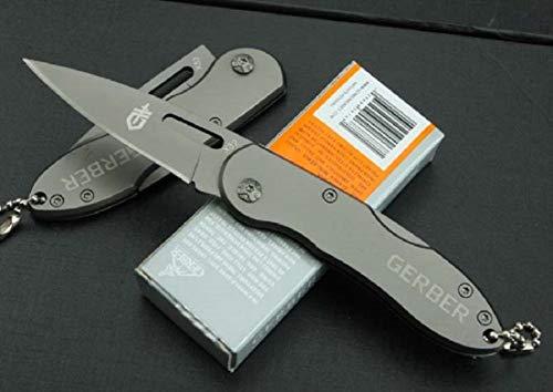 CP-PC-036 - Couteau Compact Pliant Gerber Lame Acier 6 Cm Manche Acier 9 Cm Outdoor