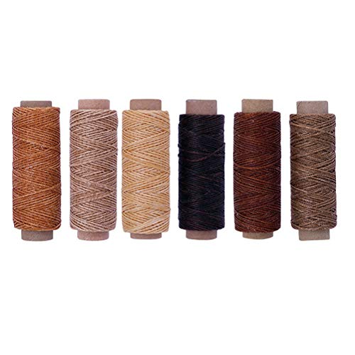 Review SUPVOX 6pcs Leather Sewing Waxed Thread Upholstery Repair Kit Sewing Accessories for DIY Craf...