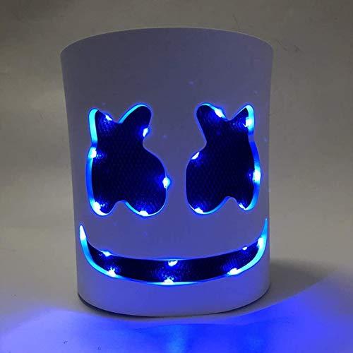 Mscara LED para DJ con luz para festivales de msica, cosplay, Halloween, disfraz (azul)