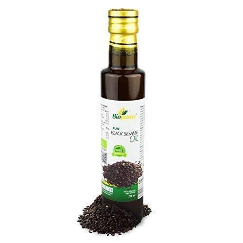 Organique Certifié Presséà Froid Noir Huile de Sésame 250ml Biopurus