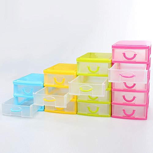 Inicio 4 estilos Multi-capa Caja de almacenamiento de plástico Organizador de escritorio Caja de almacenamiento Caja de almacenamiento Detachable Joyería Maquillaje Gabinetes Caja Caja de almacenamien