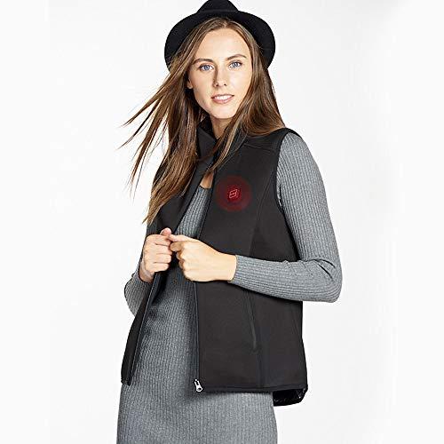 Roboraty Verwarmde jas voor mannen en vrouwen, wasbare warme jas, USB verwarmd elektrisch vest, warme kleding voor outdoor-kamperen, wandelen jacht (zonder batterij) Small dames