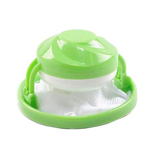 Suberde Filtro galleggiante per lavatrice, rete per la raccolta dei capelli e del peli, a forma di fiore, sferico