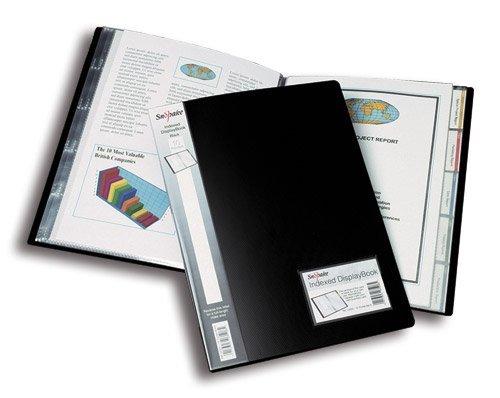 5 x Snopake Sichtbuch Display Book A4 40 Hüllen 5 Reitertaschen schwarz
