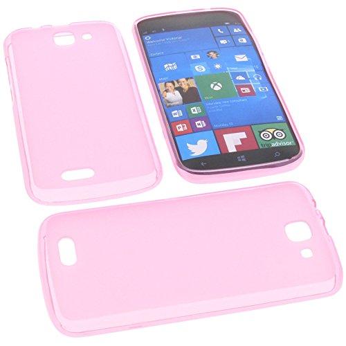 foto-kontor Tasche für Archos 50 Cesium Gummi TPU Schutz Handytasche pink