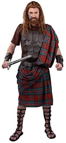 shoperama Disfraz de guerrero escocs de 5 piezas para hombre, talla 54/56