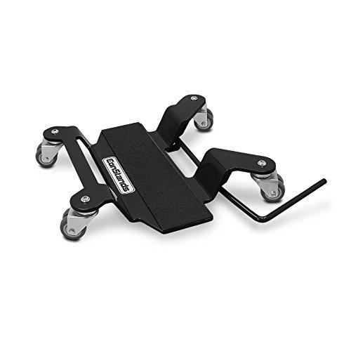 Motorrad Rangierplatte Kompatibel für Hauptständer ConStands schwarz