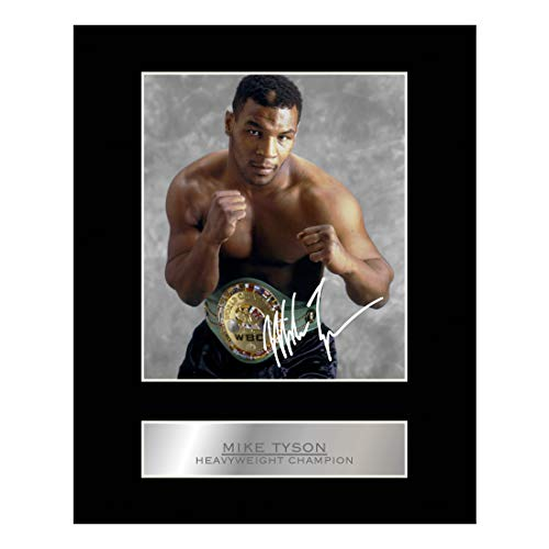 Mike Tyson Signed Mounted Photo Display Heavyweight Champion #03 Printed Autograph Gift Picture Print