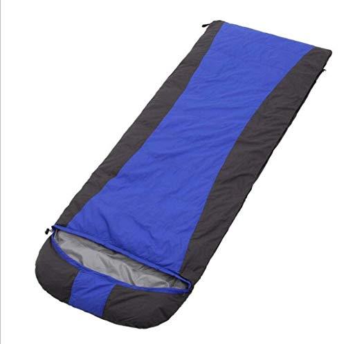 Sac de Couchage, Enveloppe de Camping en Plein air pour Hiver Sac de Couchage à Capuchon, Sac de Couchage pour Camping Adulte (Color : Blue)