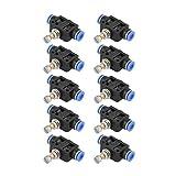 10 unids/set Push In Rate Controller 6mm Herramienta de conector de válvula de control de aire neumático