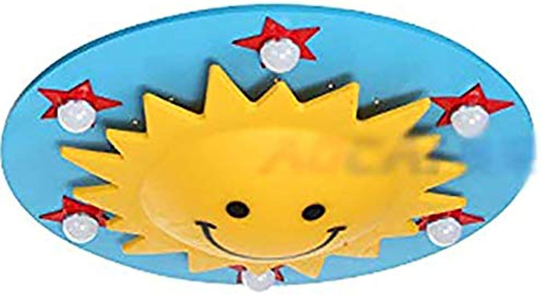 Karikatur Kreative Sun Smiley Led Deckenlampe Esszimmer Lampe Kinderzimmer Lampe Schlafzimmer Beleuchtung Wohnzimmer Lampe E27  6, Deckenleuchte