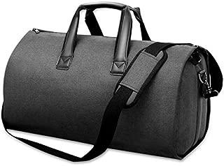 Garment Duffle Bag,Suit Bag with Shoulder Strap, AGPTEK Travel Gym Bag, Foldable Flight Bag with Shoe Pouch for Men Women, Airplane Business Sport Weekend, Black