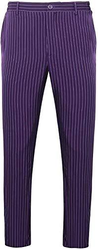 YBINGA Pantalones Joker para hombre, disfraz de Joker de caballero oscuro para cosplay, pantalones de rayas, para Halloween, cosplay, fiestas, cosplay (tamaño: XL)