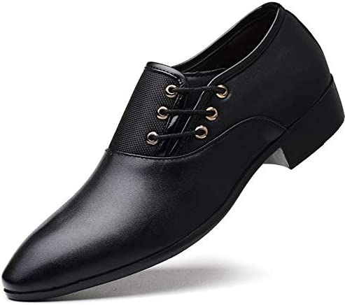 Men's Shoes Smart Oxford Leather Pointed Toe Business Formal Office Work Wedding Shoes