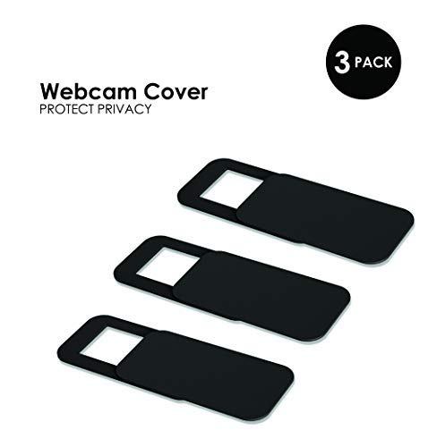 Tekmomo Webcam Cover .7MM Thin - Protect Your Privacy - Fits Laptops, Desktop Pcs, MacBook Pro, iMac, Smartphones and Tablets, (Pack of 3)