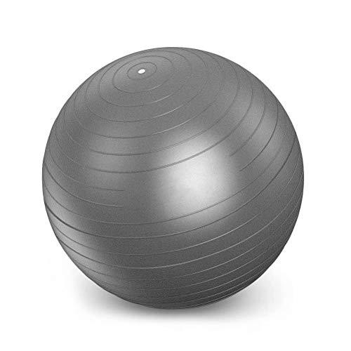 Pelota de Ejercicio Suiza de con pompa - Lo mejor para sus abdominales - estabilidad y tonificación - Fabricada con material anti quiebre rutinas para sus abdominales y núcleo corporalGris 105cm