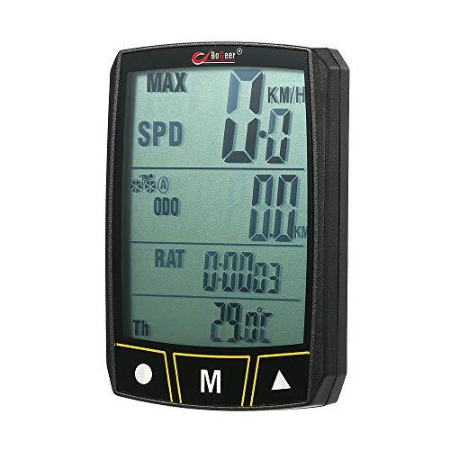WAZA 338 Fahrradcomputer ODO - Kilometerzähler Kilometerzähler Neuester Kilometerzählerwert Rennrad Geländerad Faltrad Radsport