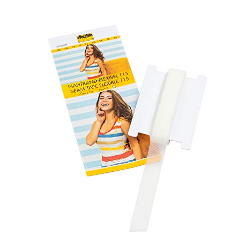 Vlieseline 53568476 - T15 SB Nahtband, 5x15 mm, 100% Polyester, weiß