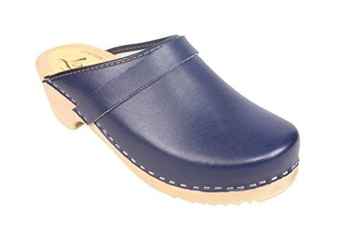 Lotta From Stockholm schwedische Clogs aus blauem Leder EUR 40
