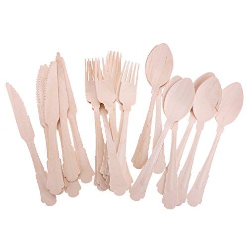 oshhni Tenedor de 8 Piezas + Cuchara de 8 Piezas + Cuchillo Portátil de 8 Piezas
