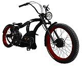 Power-Bikes, Pedelec, E-Bike, 250 W, Fatbike, Cruiser, Bicicleta, Rojo, Negro, Negro, Rojo