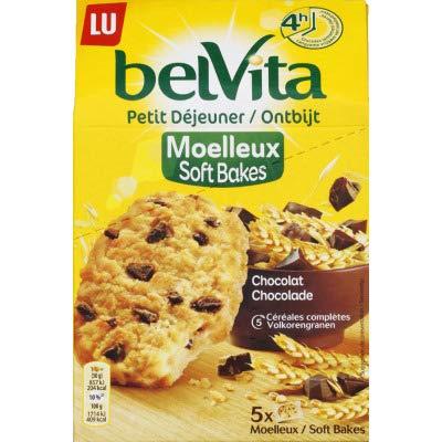 Belvita Moelleux au chocolat et 5 céréales complètes - Les 5 sachets, 250g