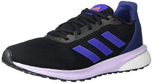 adidas Damen ASTRARUN W Laufschuh, Schwarz/Boost Blau Violet Metallic/Violett, 40 EU