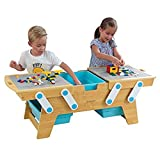 KidKraft Building Bricks Play N Store Table,Natural