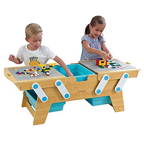 KidKraft Building Bricks Play N Store Table,Natural