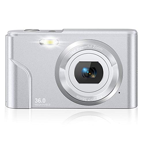 Rosdeca デジタルカメラ デジカメ コンパクト HDカメラ 1080P 36MP 16倍ズーム 連写 軽量 携帯便利 2.44インチIPS画面 ミニカメラ キッズ 学生 撮影初心者に適用