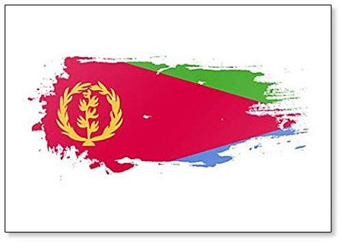 Eritrea Flag Grunge Brush Style Illustration Kühlschrankmagnet