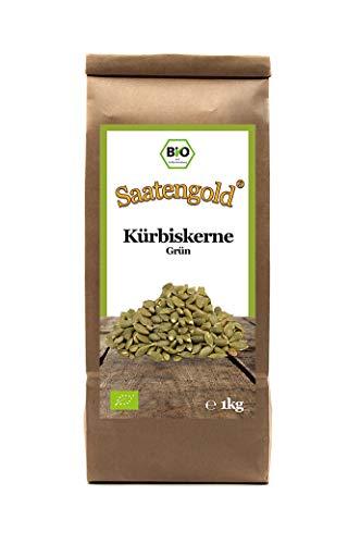 Saatengold   Naturstoffe / Natürlich / Rein   Vegan & glutenfrei (Bio-Kürbiskerne grün 1kg)