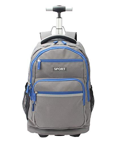 LHY SAVE Rucksack Trolley für Kinder Laptop Rucksack Trolley,Wasserdicht Rucksäcke Für Business Reise Und Urlaub Passt Bis Zu 15 Zoll Laptop,Grau