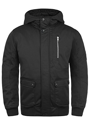 !Solid Wallace Herren Übergangsjacke Herrenjacke Jacke mit Kapuze, Größe:XL, Farbe:Black (9000)