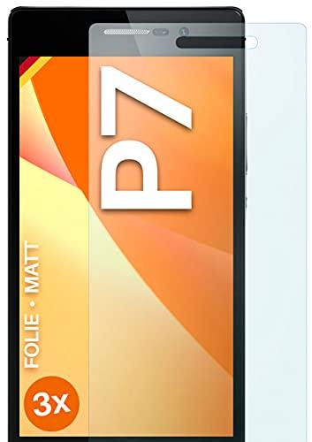 moex Schutzfolie matt kompatibel mit Huawei Ascend P7 - Folie gegen Reflexionen, Anti Reflex Bildschirmschutz, Matte Bildschirmfolie - 3X Stück