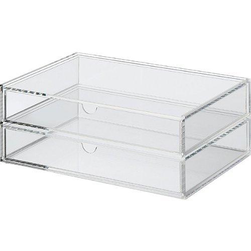 MOMA Muji Acrylic Case 2 Drawers - Large W25.5 x D17x H9.5cm (W10.2 x D6.8 x H3.8')