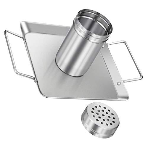 Hemoton Pollo Pato Titular Rack Vertical Grill Accesorios Stand Asar para Barbacoa Costilla Antiadherente Parrilla de Pollo de Acero Al Carbono con Bandeja para Horno Grill