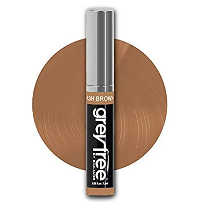 Greyfree root touch up temporary hair color concealer to instantly cover edit and camouflage gray hair beards, eyebrows and more