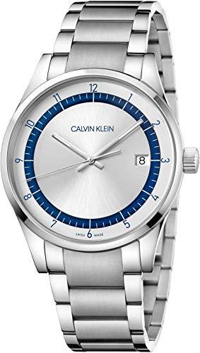 Calvin Klein heren analoog kwarts horloge met roestvrij stalen armband KAM21146