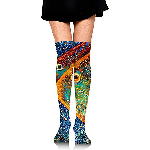Yuanmeiju Calcetines de compresión de color salmón aceitoso TSocks Calcetines para hombres...