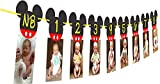 Mickey Mouse Birthday Banner I NB to 12 Month Photo Banner First Birthday Decorations I Mickey Mouse Party Supplies I Picture Frame Banners I Clubhouse Decoration for 1st or 12th Birthday