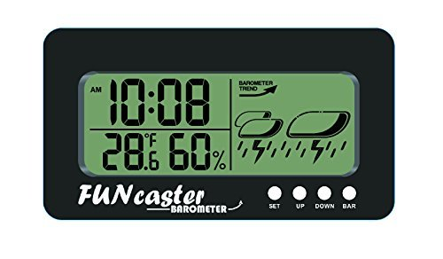 For Sale! TecScan FUNcaster Barometer Ambient Weather Clock for Golf Cart, Boat, Home, Office Easy t...