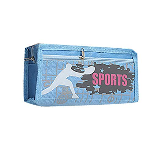 BB67 - Estuche para lápices y cosméticos, bolsa de almacenamiento para artículos de papelería, para casa, escuela, oficina, regalo