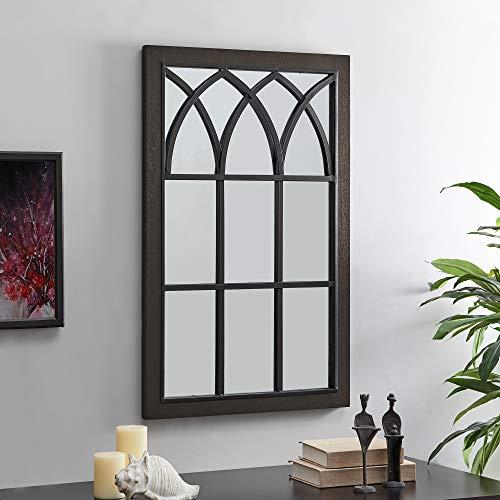 FirsTime & Co. Espresso Grandview Arched Farmhouse Window Mirror, American Designed, Espresso, 24 x 2 x 37.5 inches